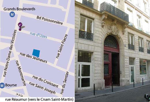 Plan d'accès rue des Jeûneurs